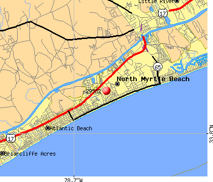 North Myrtle Beach, SC (29582) map