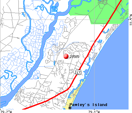 Pawleys Island, SC (29585) map