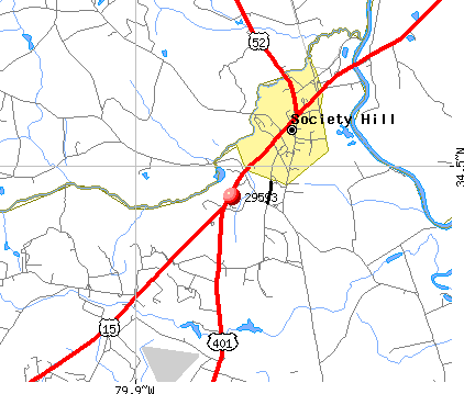 Society Hill, SC (29593) map