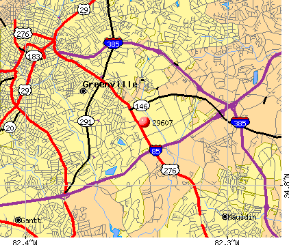 Greenville Sc Zip Codes Map | Zip Code MAP