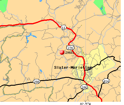 Slater-Marietta, SC (29661) map