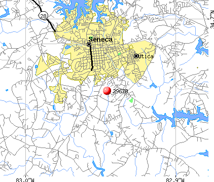 Seneca, SC (29678) map