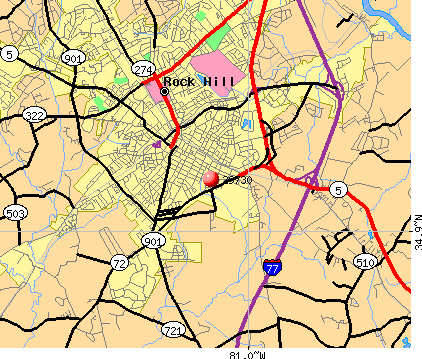 Rock Hill, SC (29730) map