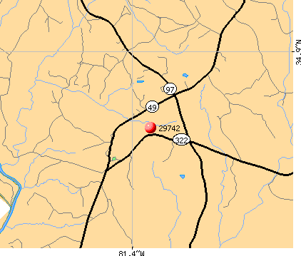 Sharon, SC (29742) map