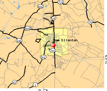New Ellenton, SC (29809) map