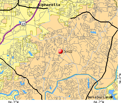 Johns Creek, GA (30022) map