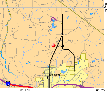 Oxford, GA (30054) map