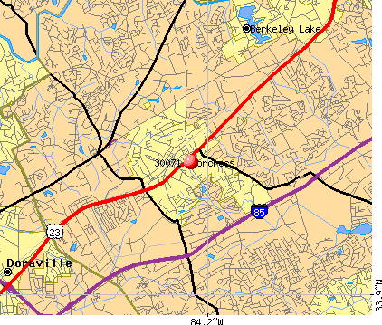 Norcross, GA (30071) map