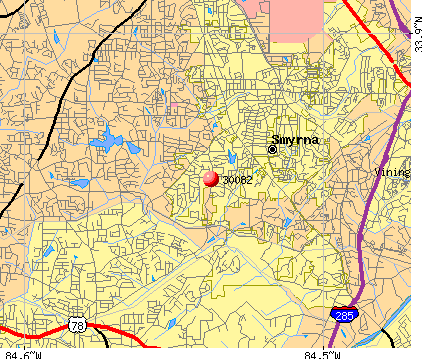 Smyrna, GA (30082) map