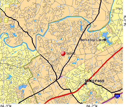 Sandy Springs, GA (30092) map