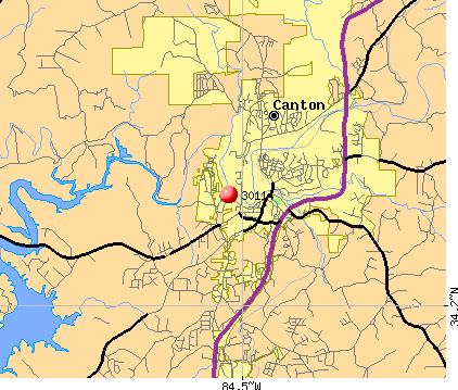Canton, GA (30114) map