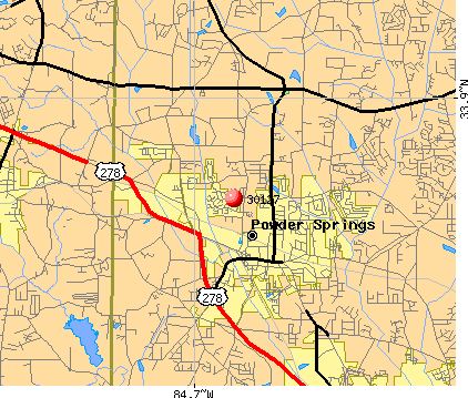 Powder Springs, GA (30127) map