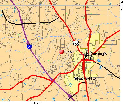 McDonough, GA (30253) map