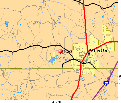 Chattahoochee Hills, GA (30268) map