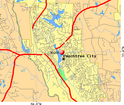 Zip Code Peachtree City Georgia Profile Homes - Georgia map peachtree city