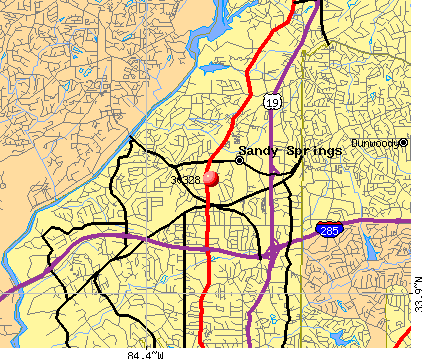 Sandy Springs, GA (30328) map