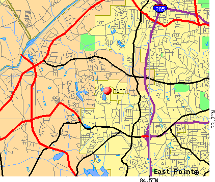 Atlanta, GA (30331) map