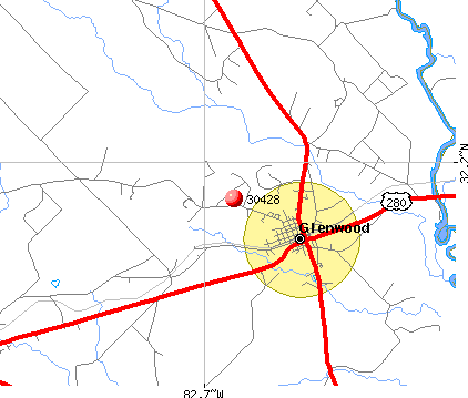 Glenwood, GA (30428) map