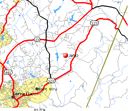Mount Airy, GA (30563) map