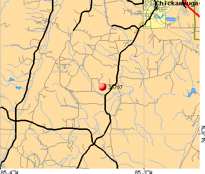 Chickamauga, GA (30707) map