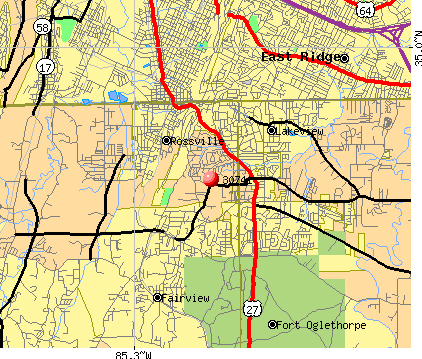 Fairview, GA (30741) map