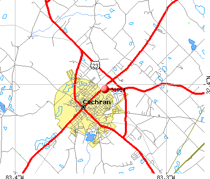 Cochran, GA (31014) map