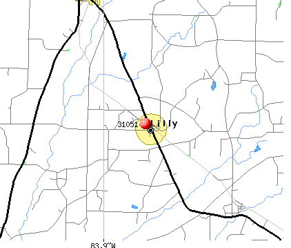 Lilly, GA (31051) map