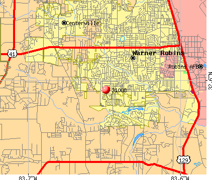 Warner Robins, GA (31088) map