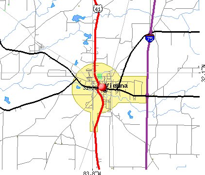 Vienna, GA (31092) map