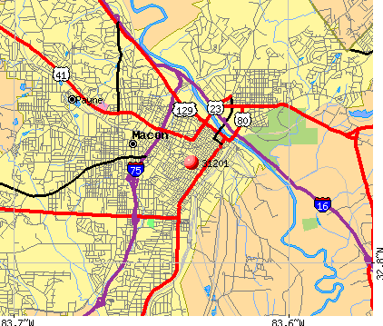 Macon, GA (31201) map