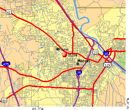 Macon, GA (31204) map