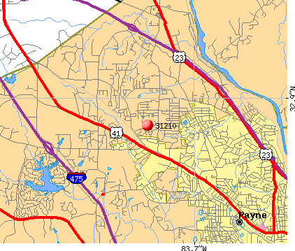Macon, GA (31210) map
