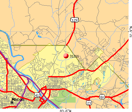 Macon, GA (31211) map
