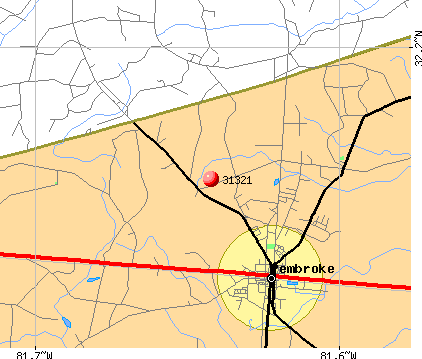 Pembroke, GA (31321) map