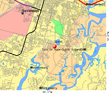 Savannah, GA (31406) map