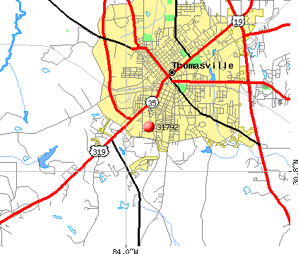 Thomasville, GA (31792) map