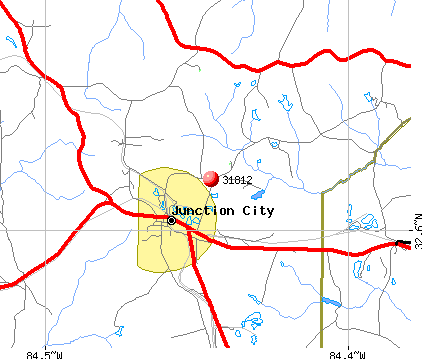 Junction City, GA (31812) map