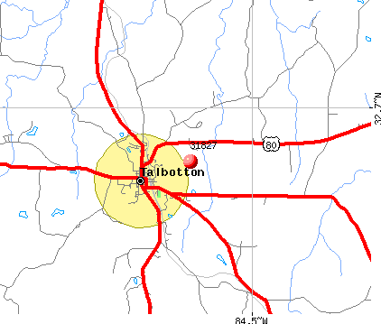 Talbotton, GA (31827) map