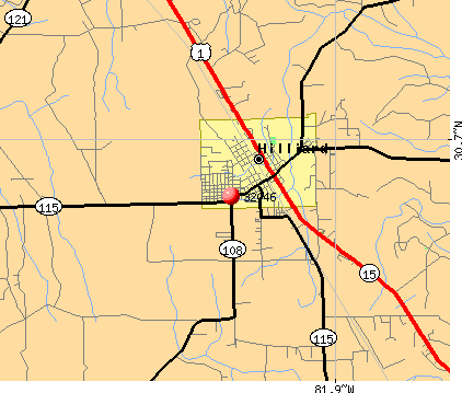 Hilliard, FL (32046) map