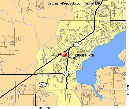 Lakeside, FL (32065) map