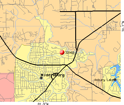 Middleburg, FL (32068) map