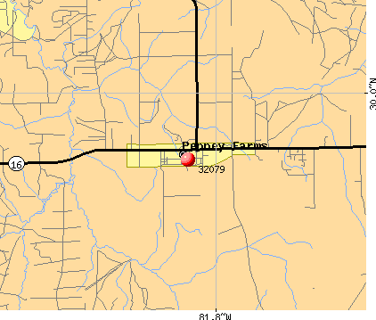 Penney Farms, FL (32079) map