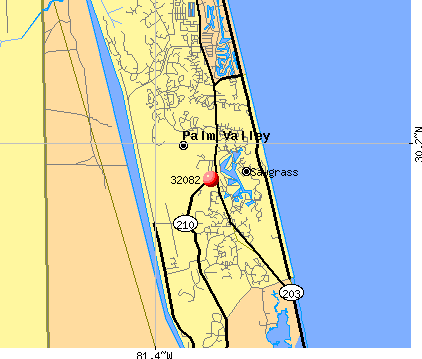 Palm Valley, FL (32082) map