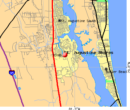 St. Augustine Shores, FL (32086) map