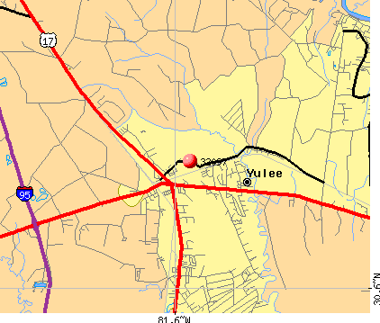 Yulee, FL (32097) map