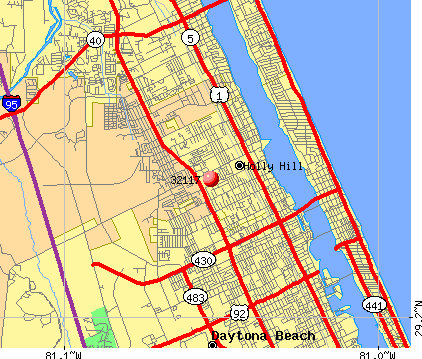 Daytona Beach, FL (32117) map