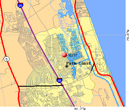 Palm Coast, FL (32137) map