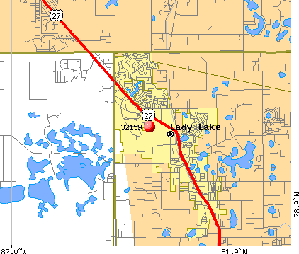Lady Lake, FL (32159) map