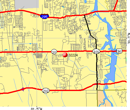 Jacksonville, FL (32224) map