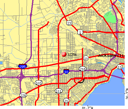 Jacksonville, FL (32254) map